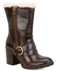 Brown Born & Rhoslyn Leather Ankle Boots w/Fur Interior @ RueLaLa $90