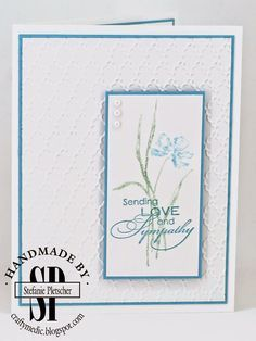 The Crafty Medic: Show Offs - Stampin' Up! Love & Sympathy stamp set.