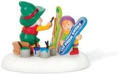 NORTH POLE VILLAGE - THE SNOWBOARD ARTIST - VILLAGE ACCESSORY FIGURINE 807240