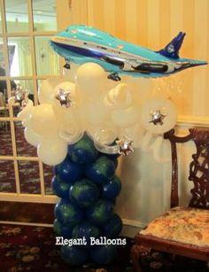 Bar and Bat Mitzvah — Elegant Balloons Ballon Column, Ballon Arch, Planes Party, Airplane Party, Balloon Clouds, Balloons, Helicopter Birthday, Balloon Decorations, Balloon Ideas