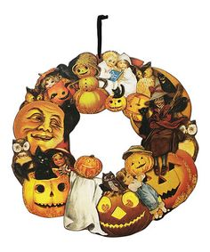 Take a look at this Vintage Halloween Wreath by Primitives by Kathy on #zulily today!