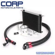 69.05$  Buy now - http://ali67m.shopchina.info/go.php?t=32715477998 - Universal 15 Row JDM Engine Oil Cooler Kit + Sandwich Plate + AN10 Oil Lines Kit 69.05$ #buyininternet