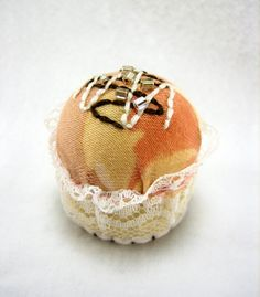 Strawberry Bonbon bottle cap pincushion by uramichi on Etsy, $8.45