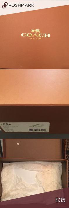 Nice excellent Condition Coach Box Was for a pair of size 10 shoes. Sticker can be removed. Store your shoes or small bag/wallet. 12.25x8.25x4.75 Coach Bags
