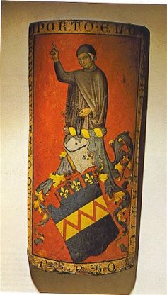 15th century Pavise, Florence? -- Coat of arms of a medieval Florentine family, the Bounamici