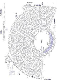 Схема вязания туники крючком