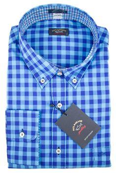 Shark Shirt, Paul Shark, Mens Designer Shirts, Blue Gingham, Casual T  Shirts, Shirt Shop, Men s Shirts, Brunello Cucinelli, Dapper 86edaed0ac