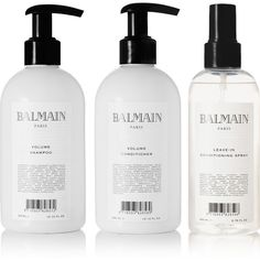 Balmain Paris Hair Couture Volumizing Care Set found on Polyvore featuring beauty products, haircare, beauty, colorless, balmain, clear hair care and sulfate free hair care