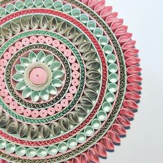 Working on what will be the largest #mandala I have ever made. These calm, pretty #pastel colours are so easy to work with.- - - #PaperRound. #quilling #paperart #paper #papercraft #art #artgallery #artexhibition #melbourneart #melbourneartist #contemporaryart #modernart #abstractart #australia #artistsoninstagram #somuchtolookforwardto #workinprogress #interiordesign #interiorart #yoga #meditate #hindu #buddhism