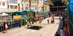 "Fiestas patronales de Benissa. ""Bous al Carrer"" (toros en la calle)."