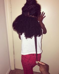 And even the tiniest babies possess it. | 17 Photos That Explain Shrinkage To People Who Don't Understand Black Hair Natural Hair Regimen, How To Grow Natural Hair, Natural Hair Tips, Natural Hair Styles, Natural Kids, Going Natural, Hair Like Wool, Love Hair, Curly Afro Hair