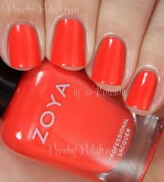 Zoya Rocha | Summer 2014 Tickled Collection | Peachy Polish
