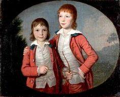 Retrato de dos muchachos - David Allan