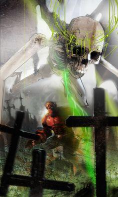 Batman, The Joker, Hell Boy and X-23 as striking illustrations