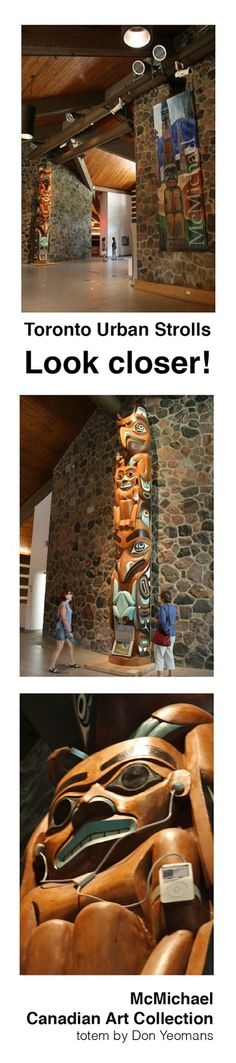 Toronto Fun Places: What is it I'm seeing on the totem at McMichael?
