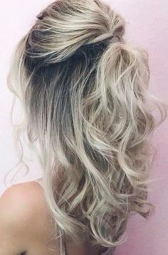 Trendy Hairstyles for Medium Length Hair You Will Love ★ See more: glaminati. - - Trendy Hairstyles for Medium Length Hair You Will Love ★ See more: glaminati.c… Frisuren Trendy Hairstyles for Medium Length Hair You Will Love ★ See more: glaminati. Haircuts For Long Hair, Trendy Hairstyles, Curled Hairstyles For Medium Hair, Prom Hair Medium, Half Up Half Down Hairstyles, Bridesmaid Hair Medium Length Half Up, Hairstyle For Medium Length Hair, Half Pony Hairstyles, Medium Hair Wedding Styles
