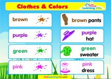 Clothes vocabulary video