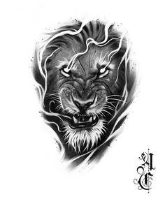 Leo Lion Tattoos, Lion Chest Tattoo, Lion Tattoo Sleeves, Chest Piece Tattoos, Tiger Tattoo, Animal Tattoos, Band Tattoo Designs, Armband Tattoo Design, Lion Tattoo Design