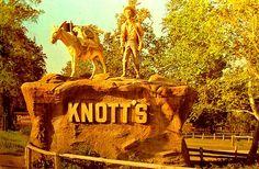 Knotts Berry Farm, Buena Park | Vintage Post Card: Knott's Berry Farm Miner & Mule II, Buena Park CA ...