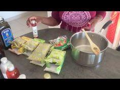 Mon huile capillaire aux poudres indiennes de neem,amla,brahmi,shikakai, et henné rajasthani - YouTube