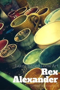 """LOCAL ART-We are lucky to have a ton of FANTASTIC local artists in Southwest Louisiana. Rex Alexander creates """"out of this world"""" ceramic art. Check it out! Louisiana Art, Lake Charles, America And Canada, Handmade Pottery, Local Artists, Ceramic Art, Ceramics, Check, Hall Pottery"""