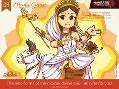 #Navratri #Day 4 : Maha Gauri #Praying to this #form of #Devi brings #Wisdom, the #Elixir #of #Life.