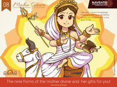 #Navratri #Day 4 : Maha Gauri #Praying to this #form of #Devi brings #Wisdom, the #Elixir #of #Life.
