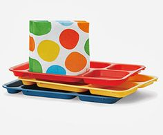 These food trays will helps kids with portion control.
