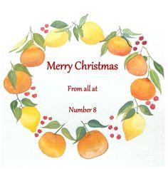 Oranges and Lemons Christmas Wreath 6 Handmade Watercolour | Etsy
