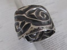 Sterling Silver Eastern Chasing & Repousse Cuff by Tracy Gromley