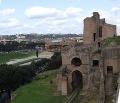 Imperial Palace on the Palatine Hill overlooking the Circus Maximus. Largely extended by Septimius Severus
