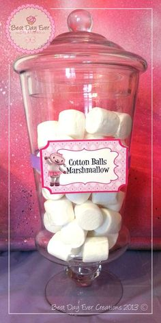 Another treat idea: Cotton Balls that are marsh-mellows. Awesome!