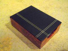 Burl wood note holder