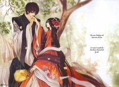 """The Bride of The Water God"" Manwha (Korean manga) . It's really good. It is a little confusing at first but the couple really draws you in.  Brief summary: Soah is sold off by her family to take the Noble's daughters place as the village sacrifice to the Water God,Habaek. She is now his bride. She expects Him to be a powerful figure but is surprised at his form...then Soah finds out as she falls in love that Habeak isn't as powerful as he seems...and that maybe only she could save him."