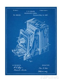 Photographic Camera 1887 Patent Art Print