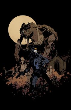 "Variant cover to ""The Burning Hand #4."" (Part of Mignola's ""Year of Monsters"" cover series.)"