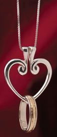 A hinged necklace to hold keepsake rings on