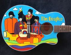 How cool is this Beatles guitar?