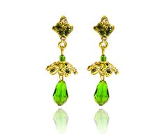 NEW HOT COLLECTION FOR WOMEN GIRLS DROP EARRINGS PRETTY  GREE N GOLD JEWELRY 21 #REEMAJEWELS #DropDangle