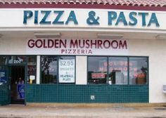 Golden Mushroom Pizza, Santa Clara CA... the absolute best pizza I have ever eaten!  Get the forest!