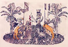 """Condor Eagle Ritual"" de Andrea Valencia @ VirtualGallery.com"