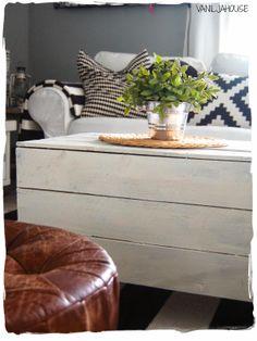 Perunalaatikosta sohvapöytä