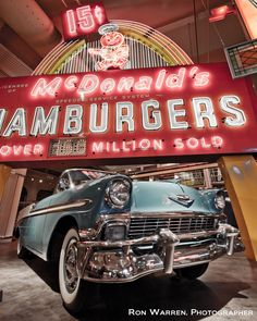 1960 McDonald's neon sign from the 2nd McDonald's in Michigan exhibited at the Henry Ford Museum in Dearborn, MI, Photo by Ron Warren