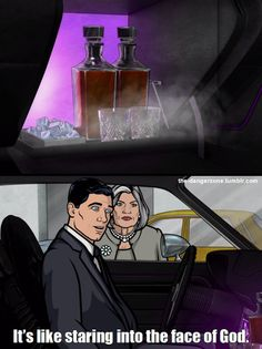 Archer finds the booze in the glovebox of his new Dodge Challenger in 'Drift Problem' Archer Tv Show, Archer Fx, Archer Quotes, New Dodge Challenger, Sterling Archer, Danger Zone, Adult Cartoons, Action Film, Cool Animations
