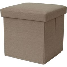Folding Storage Ottoman Seat Cube Footstool Box Fabric Contemporary Living Room #Mainstays #Contemporary