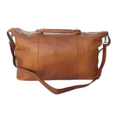 Piel Leather Large CarryOn Satchel Saddle One Size ** Check out this great product.