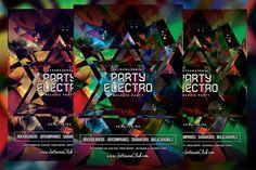 Party Electro Flyer. Flyer Templates