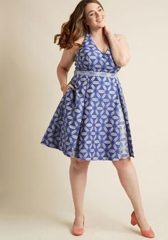 ModCloth - ModCloth Renewed Resplendence A-Line Dress in Ocean in XL - AdoreWe.com