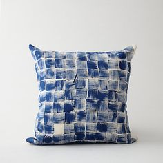hand printed block pillow | pom by pomegrante #athomewithSA