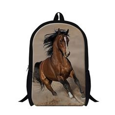 fashion white plush horse school backpack for boys,Polyester ferghana black horse back pack Animal bookbag for teenager student